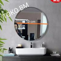 cermin bulat/cermin kamar mandi/cermin rias diameter 50 cm