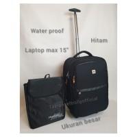 tas ransel troli laptop waterproof 19inch Polo Interclub 100%original