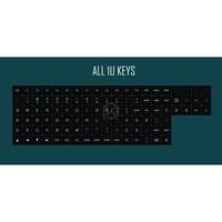 DSA PBT Top Printed black Keycaps Laser Etched mechanical keyboard