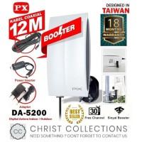 PX ANTENA TV DIGITAL INDOOR / OUTDOOR FREE KABEL 12M ANTI AIR DA-5200