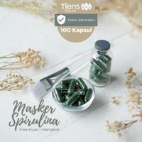 Masker Spirulina Tiens | Masker Jerawat | Kulit Cerah | Isi 100 Kapsul