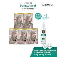 Miranda Hair Color MC16 Ash Blonde - 30ml 5 pcs - HS 100ml spray betel