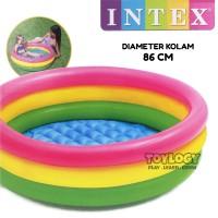 Kolam Renang Karet Anak Intex Pelangi Swimming Pool Mandi Bola