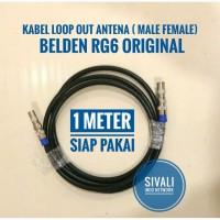 KABEL LOOP OUT ANTENNA BELDEN RG 6 UNTUK SET TOP BOX TV 1 METER