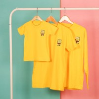 Pop Kidswear Sponge Bob Couple tee - kaos kembar keluarga sponge bob p