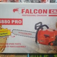 Mesin Chainsaw Falcon Pro 5880 22 Bar Baja Mesin Gergaji Potong Pohon