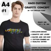 BAJU KAOS TSHIRT CUSTOM SABLON GRAFITTI / GRAFFITI / GRAFFITY DISTRO