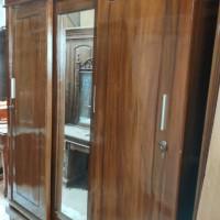 lemari pakaian 3 pintu sliding kayu jati