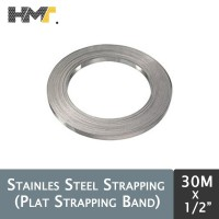 Plat Strapping Band / Steel Strapping 5/8 Inch x 30 Meter Band-it 30m