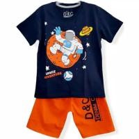 1-6T Setelan baju kaos anak Karakter Laki laki Splace Adventure Navy