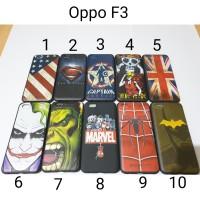 Case Hitam Superhero Oppo F3 / Soft Case Hitam Oppo F3
