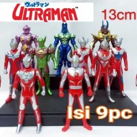 Action Figure Ultraman vs Monster Set Isi 9 Mainan Anak