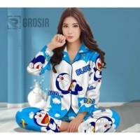 Baju tidur / Piyama Karakter Wanita Dewasa PP Doraemon Awan Fit To XL