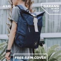 Arcio Theo Navy Tas Ransel / Backpack / Laptop [FREE RAIN COVER]