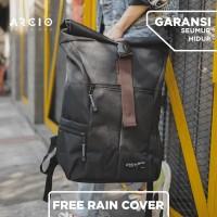 Arcio Theo Black Tas Ransel / Backpack / Laptop [FREE RAIN COVER]