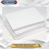 Kertas Art Paper 120 gsm A4 isi 50 Lbr / Bahan Brosur Glossy 120 gram