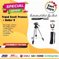 Tripod Excell Promoss Silver + Holder U