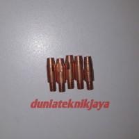 Contact tip Co2 M6×28mm Binzel bahan CUCR ukuran 0.8-1.0-1.2-1.6mm