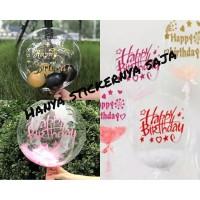 Sticker Balon PVC Balon Bobo Happy birthday
