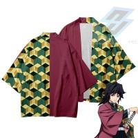 Baju Jepang Cosplay Kimono Kimetsu Demon Slayer - Haori Giyu Tomioka