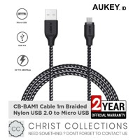 AUKEY KABEL DATA MICRO USB FAST CHARGING QC 3.0 1M FOR ANDROID CB-BAM1