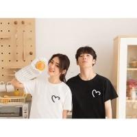 couple kaos murah baju pasangan kado pacar terbaru hati korea ART LOVE