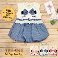 Baju Bayi Perempuan TRS-041 Baju Rok Terusan Bayi Rok Bayi Perempuan