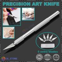 PRECISION ART KNIFE PEN CUTTER HOBBY CARVING CRAFT PISAU KERAJINAN