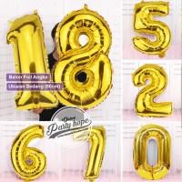 Balon Angka Jumbo Gold 80 Cm / Balon Foil Angka Besar / balon nomor