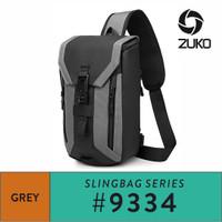 Ozuko Sling Bag #9334 - Grey
