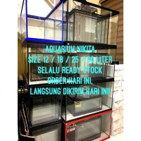 AQUARIUM KACA NIKITA STAR S/M/L/M60 (GLASS WATER TANK)