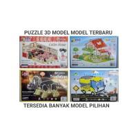 PUZZLE 3D DIY MODEL RUMAH, ROOM, VILLA, ISTANA / UKURAN KECIL