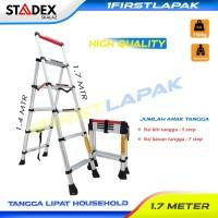 Tangga Teleskopik Lipat 5 Step T.1,4 m Household Merk Stadex By Skalaz