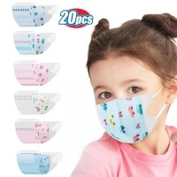 20 CHILD FACE MASK DISPOSABLE 3 PLY KARAKTER ANAK BABY TODDLER MASKER