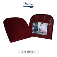 Bantal Punggung Memory Foam / Willow Pillopedic Office Support RED