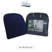 Bantal Punggung Memory Foam / Willow Pillopedic Office Support BLUE