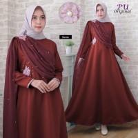 5943 Gamis merah maroon pearl dress mutiara baju kondangan cantik 5942
