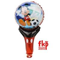 Balon Foil Tongkat Karakter Mickey Mouse Disney / Balon Tangan / Balon