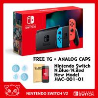 Nintendo Switch (Neon Blue/Neon Red) New Model / Version HAC-001-01 V2