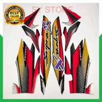 SYS striping honda supra x 110 2001 2002 hitam merah list body standar