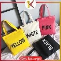 SK-T08-11 Tas Kanvas Travel / Tote Bag Cewek / Tas Bahu / Tas Fashion