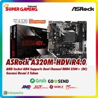 Motherboard Asrock A320M-HDV R4.0 AM4 Promo Gaming Murah