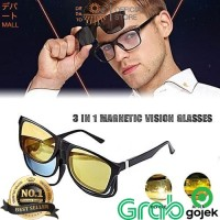 Kacamata Anti Silau Magnetic Magic Vision Ask Vision 3 in 1