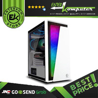 Casing CUBE GAMING XAURES WHITE ATX TEMPERED GLASS / Casing PC Gaming