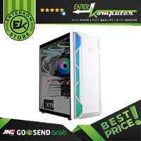 Casing CUBE GAMING DUSTIN WHITE ATX TEMPERED GLASS / Casing PC Gaming