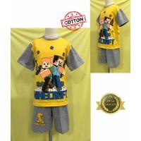 Baju Tidur Stelan Kaos Anak Cowok Minecraft DD
