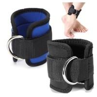 Ankle Strap D Ring Fitnes Leg Workout Latihan Kaki Fitness - Hitam 1 pcs