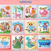 Menempel Kancing/DIY Button Painting/Mosaic. Mainan Montessori Anak