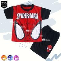 Baju Setelan Anak Karakter Spiderman Merah MATA 1thn - 10thn