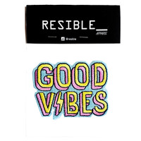 Good Vibes Text huruf IRON ON patch emblem bordir badge